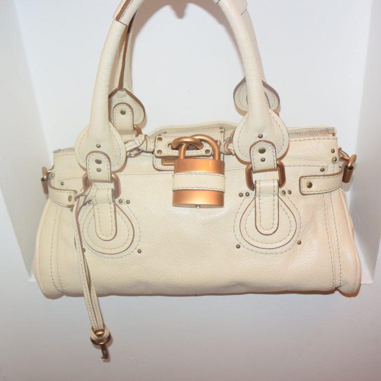 Chloe Tasche Paddington Leder beige -10785