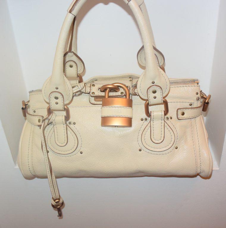 Chloe Tasche Paddington Leder beige -10789