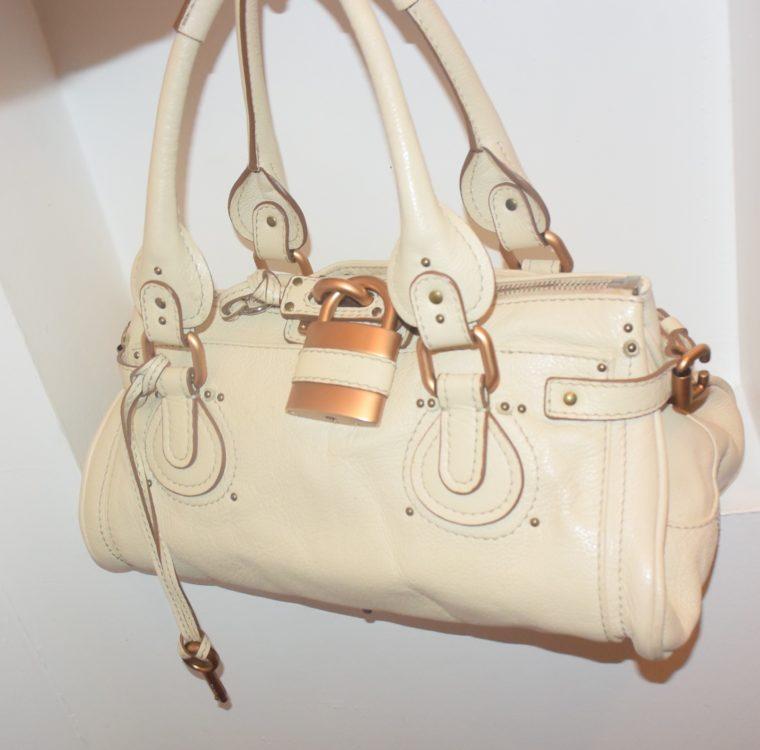 Chloe Tasche Paddington Leder beige -10793