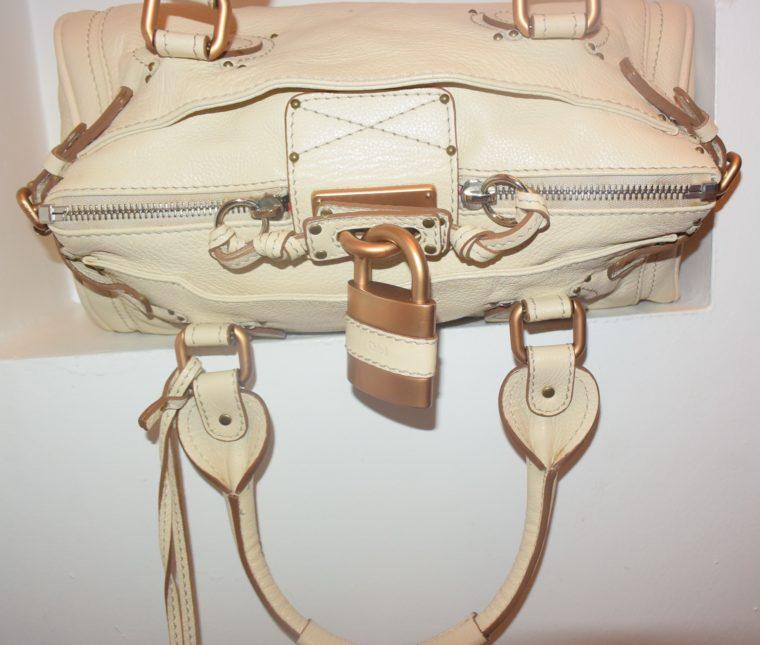 Chloe Tasche Paddington Leder beige -10786