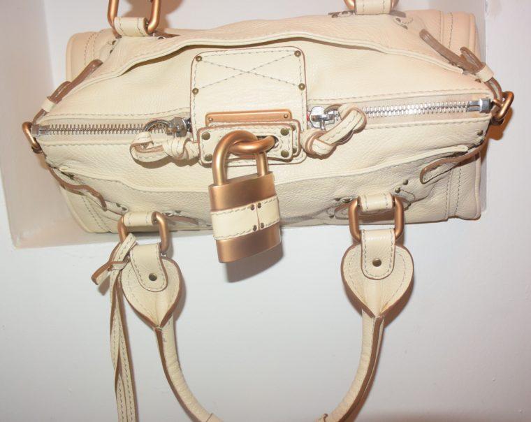 Chloe Tasche Paddington Leder beige -10791