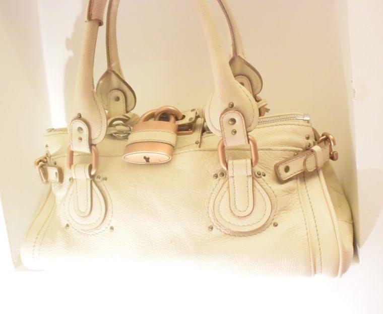 Chloe Tasche Paddington Leder beige -10794