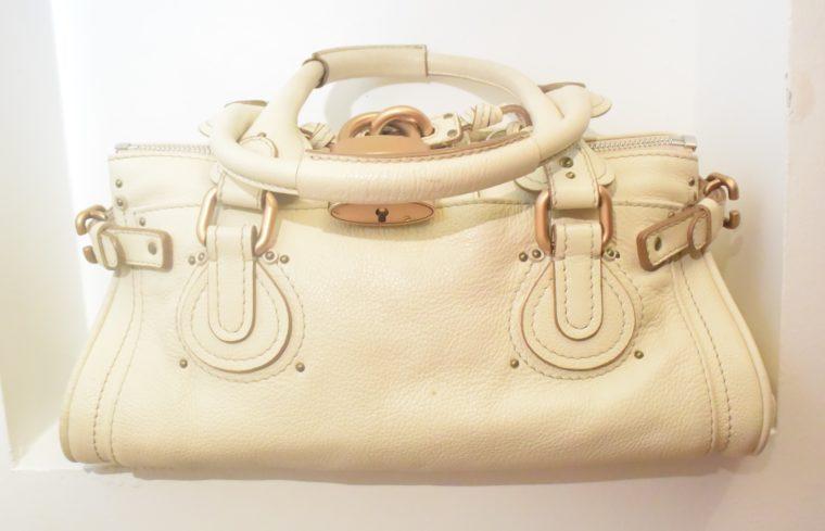 Chloe Tasche Paddington Leder beige -10790