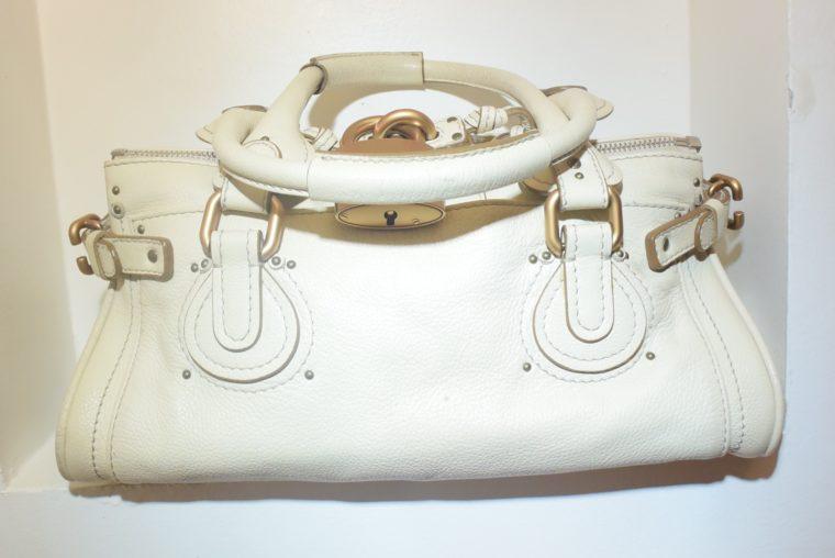 Chloe Tasche Paddington Leder beige -10788