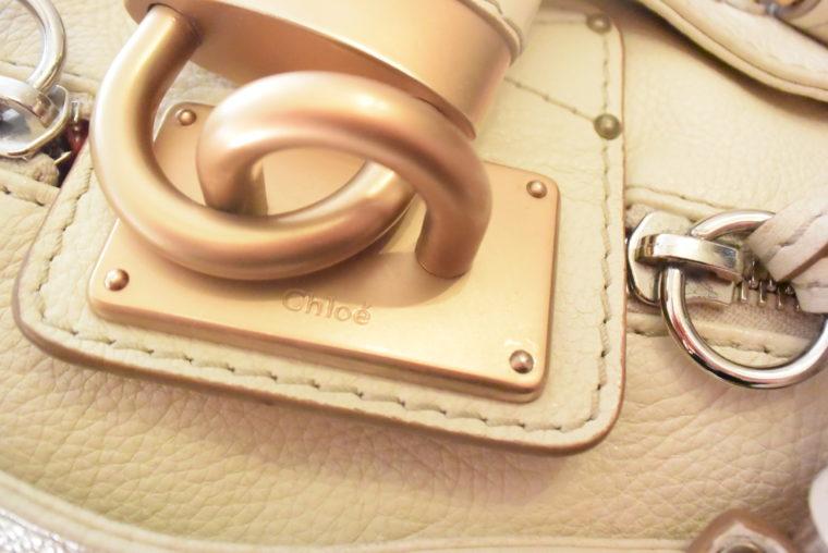 Chloe Tasche Paddington Leder beige -10799
