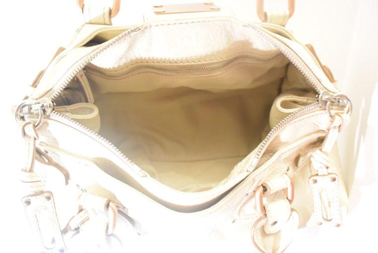Chloe Tasche Paddington Leder beige -10800