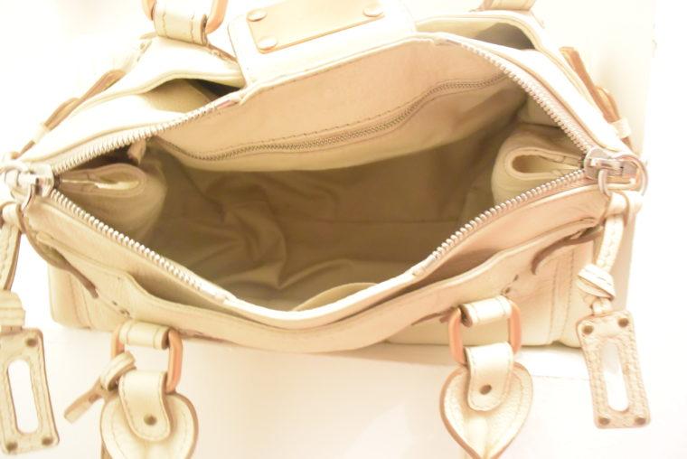 Chloe Tasche Paddington Leder beige -10803