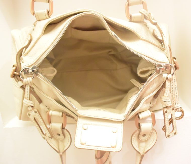 Chloe Tasche Paddington Leder beige -10807