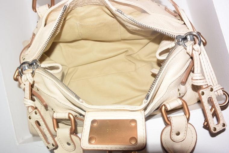 Chloe Tasche Paddington Leder beige -10805