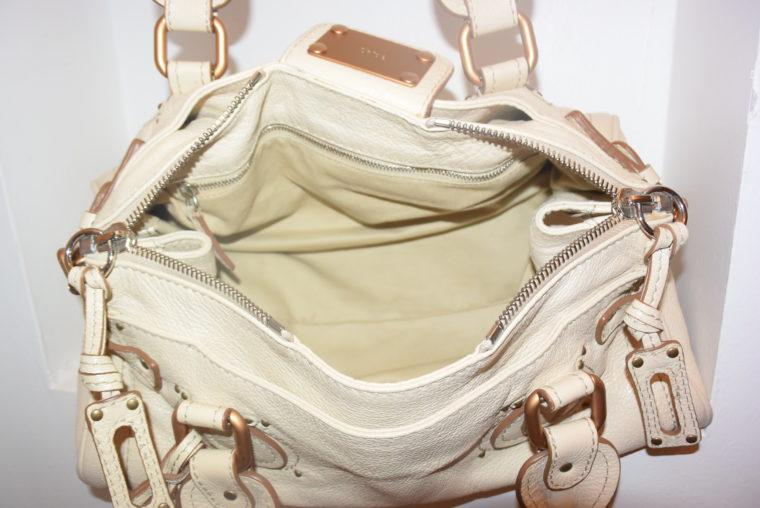 Chloe Tasche Paddington Leder beige -10806