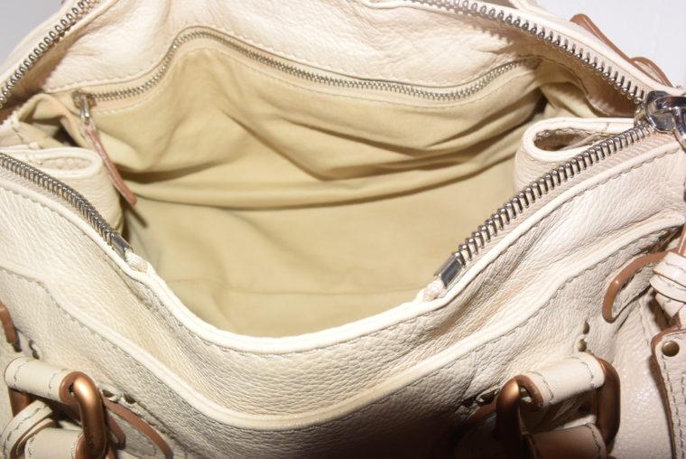 Chloe Tasche Paddington Leder beige -10804