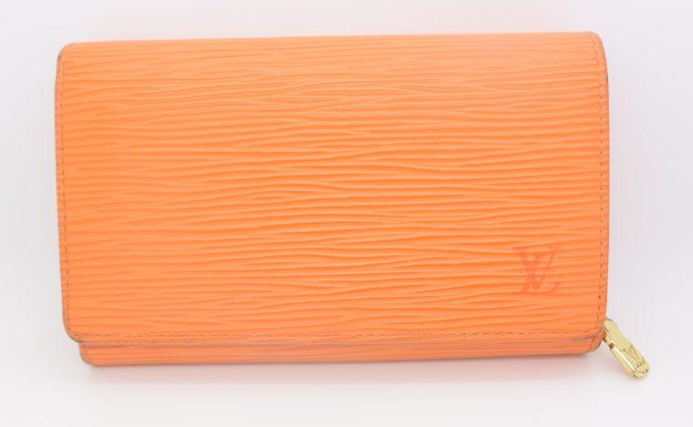 Louis Vuitton Geldbörse Porte-monnaie billets trésor Epi Leder orange-11102