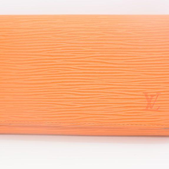 Louis Vuitton Geldbörse Porte-monnaie billets trésor Epi Leder orange