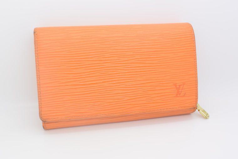 Louis Vuitton Geldbörse Porte-monnaie billets trésor Epi Leder orange-11103