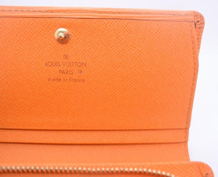 Louis Vuitton Geldbörse Porte-monnaie billets trésor Epi Leder orange-11106