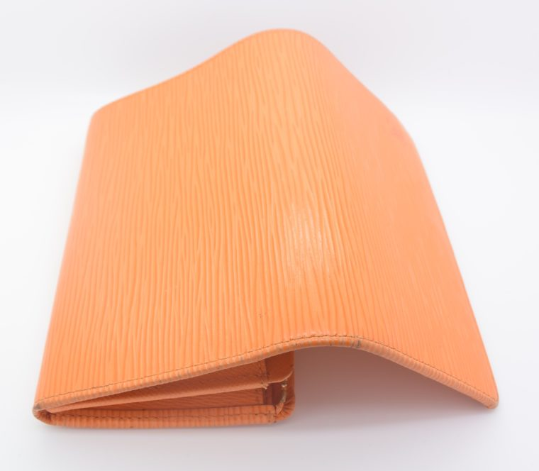 Louis Vuitton Geldbörse Porte-monnaie billets trésor Epi Leder orange-11104