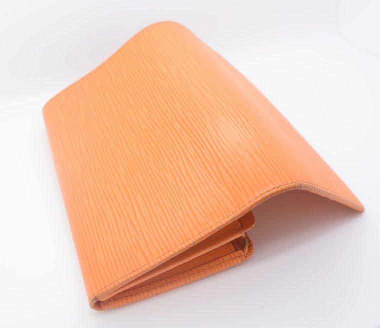 Louis Vuitton Geldbörse Porte-monnaie billets trésor Epi Leder orange-11105