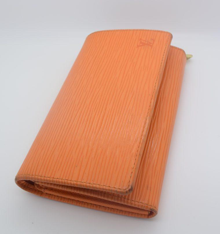 Louis Vuitton Geldbörse Porte-monnaie billets trésor Epi Leder orange-11108