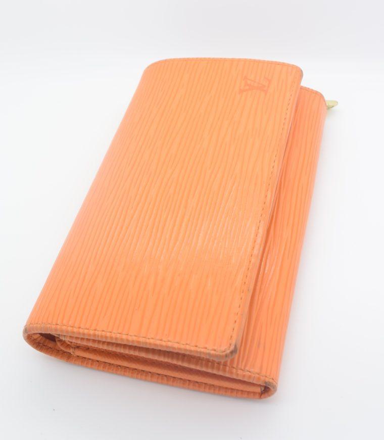 Louis Vuitton Geldbörse Porte-monnaie billets trésor Epi Leder orange-11107