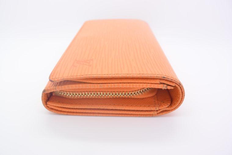 Louis Vuitton Geldbörse Porte-monnaie billets trésor Epi Leder orange-11111