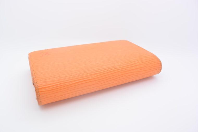 Louis Vuitton Geldbörse Porte-monnaie billets trésor Epi Leder orange-11109