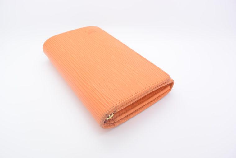 Louis Vuitton Geldbörse Porte-monnaie billets trésor Epi Leder orange-11112