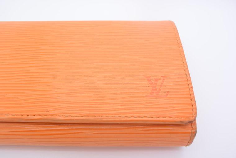 Louis Vuitton Geldbörse Porte-monnaie billets trésor Epi Leder orange-11114