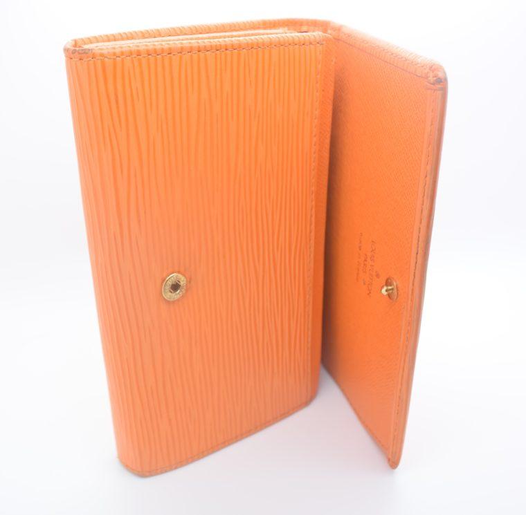 Louis Vuitton Geldbörse Porte-monnaie billets trésor Epi Leder orange-11113