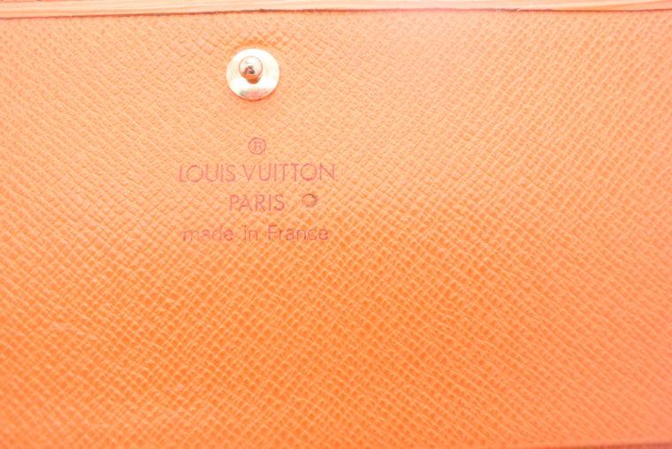 Louis Vuitton Geldbörse Porte-monnaie billets trésor Epi Leder orange-11117