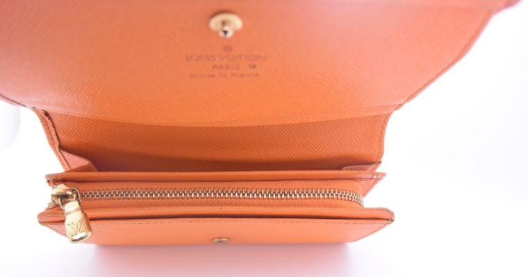 Louis Vuitton Geldbörse Porte-monnaie billets trésor Epi Leder orange-11115