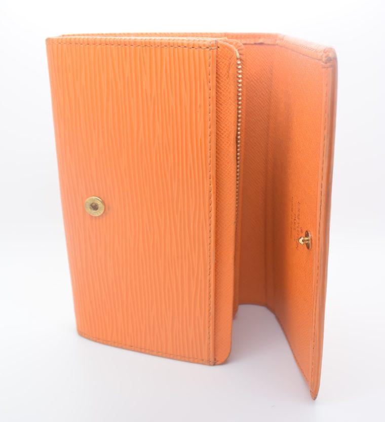 Louis Vuitton Geldbörse Porte-monnaie billets trésor Epi Leder orange-11120