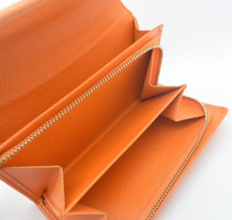 Louis Vuitton Geldbörse Porte-monnaie billets trésor Epi Leder orange-11121