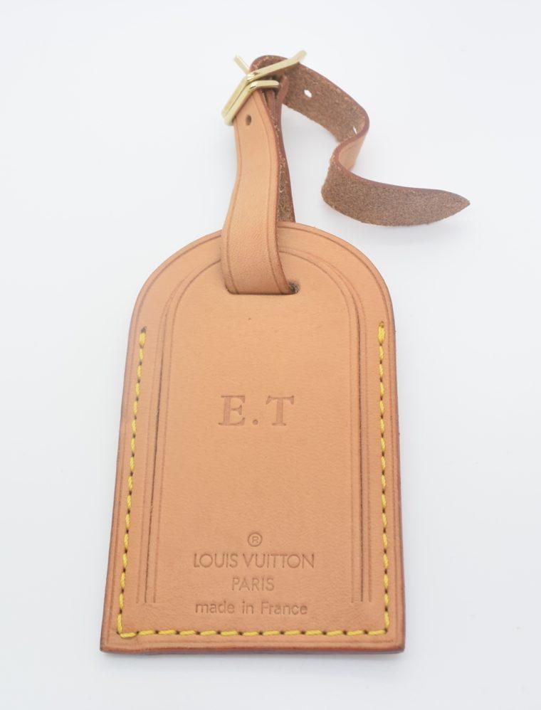 Louis Vuitton Adressanhänger VVN Leder E.T-0