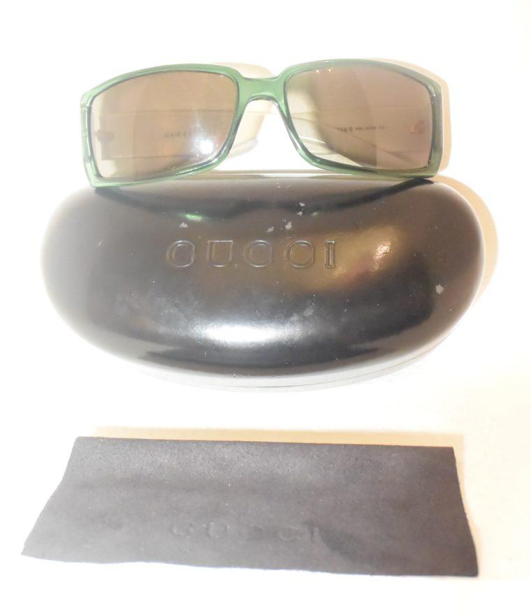 Gucci Sonnenbrille grün weiß-11227