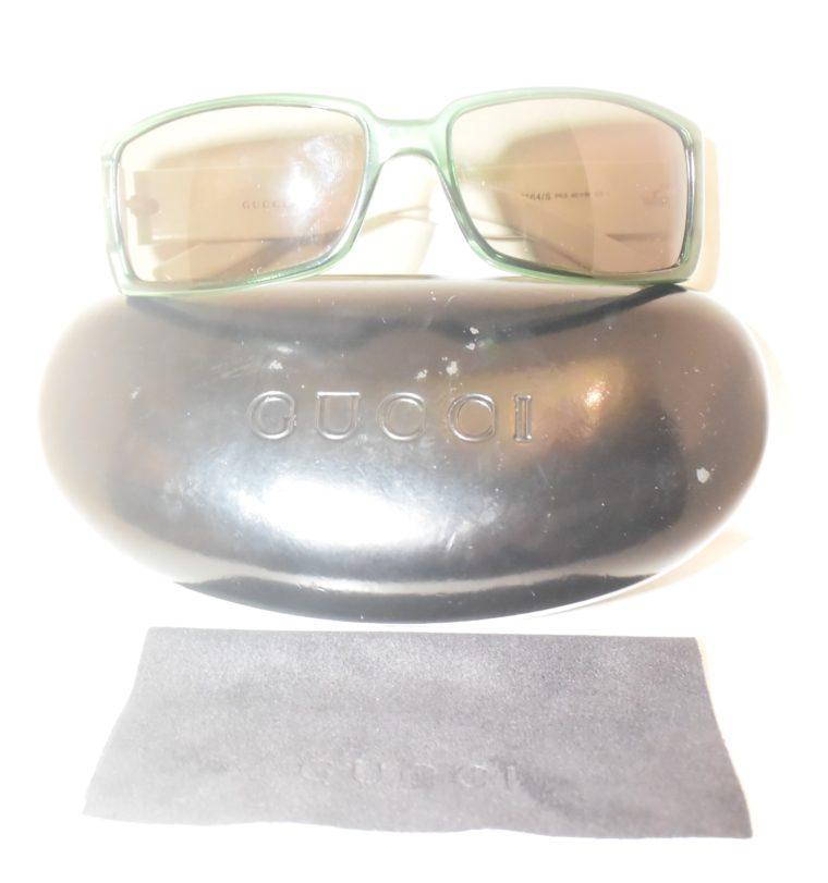Gucci Sonnenbrille grün weiß-11230