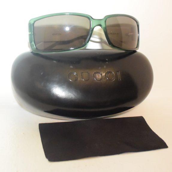 Gucci Sonnenbrille grün weiß