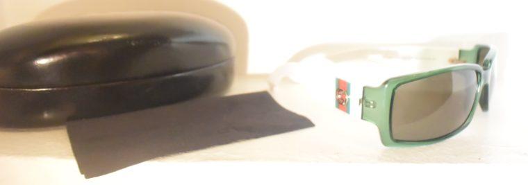 Gucci Sonnenbrille grün weiß-11228