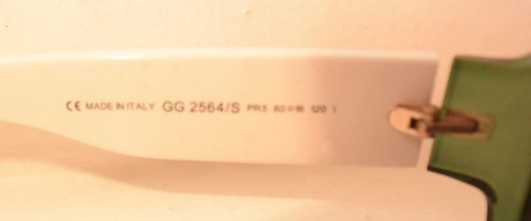 Gucci Sonnenbrille grün weiß-11231