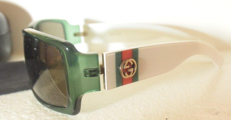 Gucci Sonnenbrille grün weiß-11234