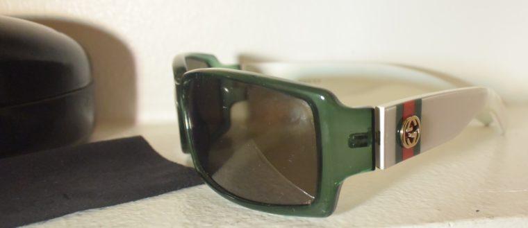 Gucci Sonnenbrille grün weiß-11236