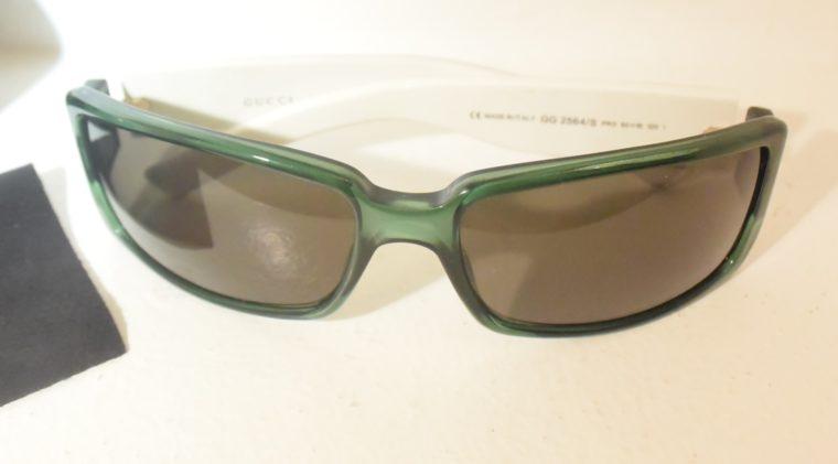 Gucci Sonnenbrille grün weiß-11235