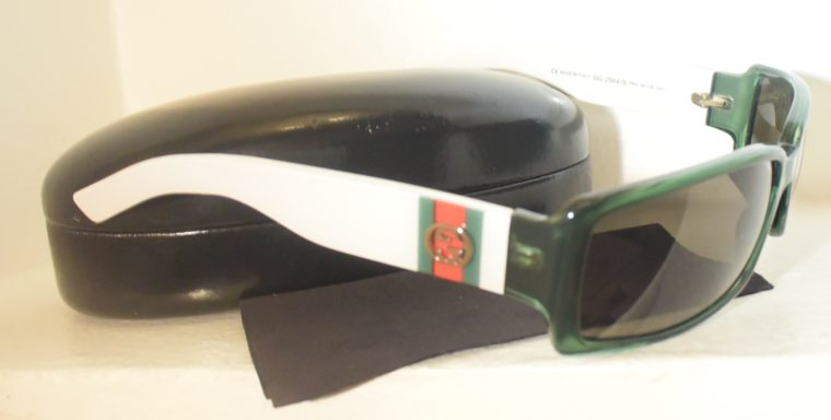 Gucci Sonnenbrille grün weiß-11240