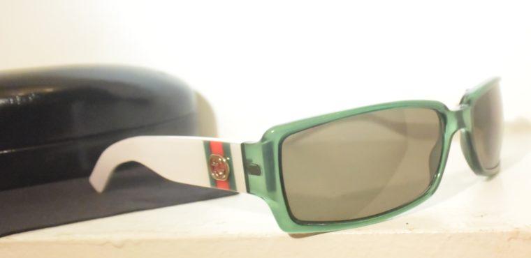 Gucci Sonnenbrille grün weiß-11239