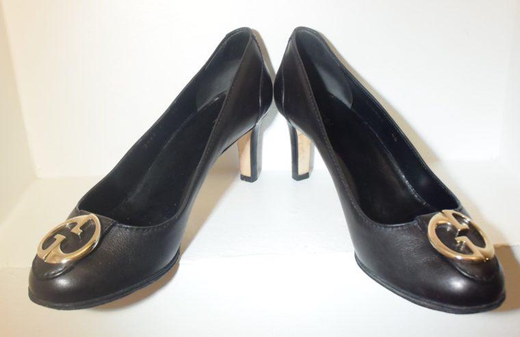 Gucci Pumps Leder schwarz 40-11256