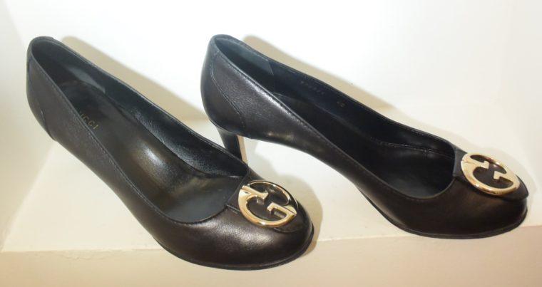 Gucci Pumps Leder schwarz 40-11259