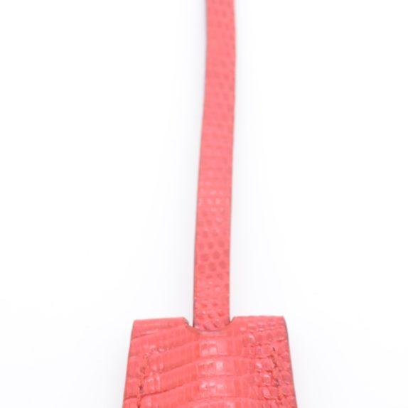 Louis Vuitton Schlüsselglocke rot aus Echsenleder