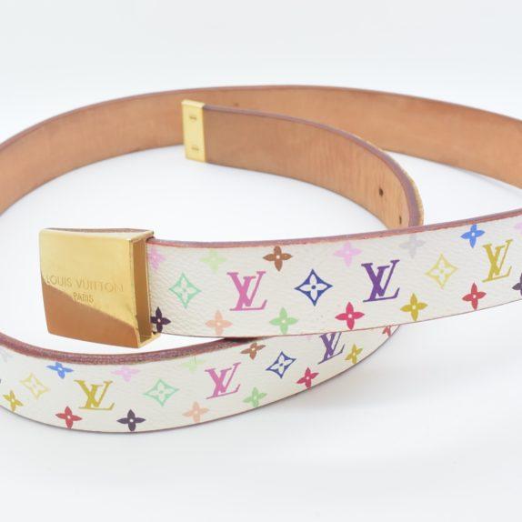 Louis Vuitton Gürtel multicolor weiß