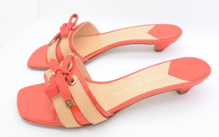 Louis Vuitton Pumps 38 rot beige-11779