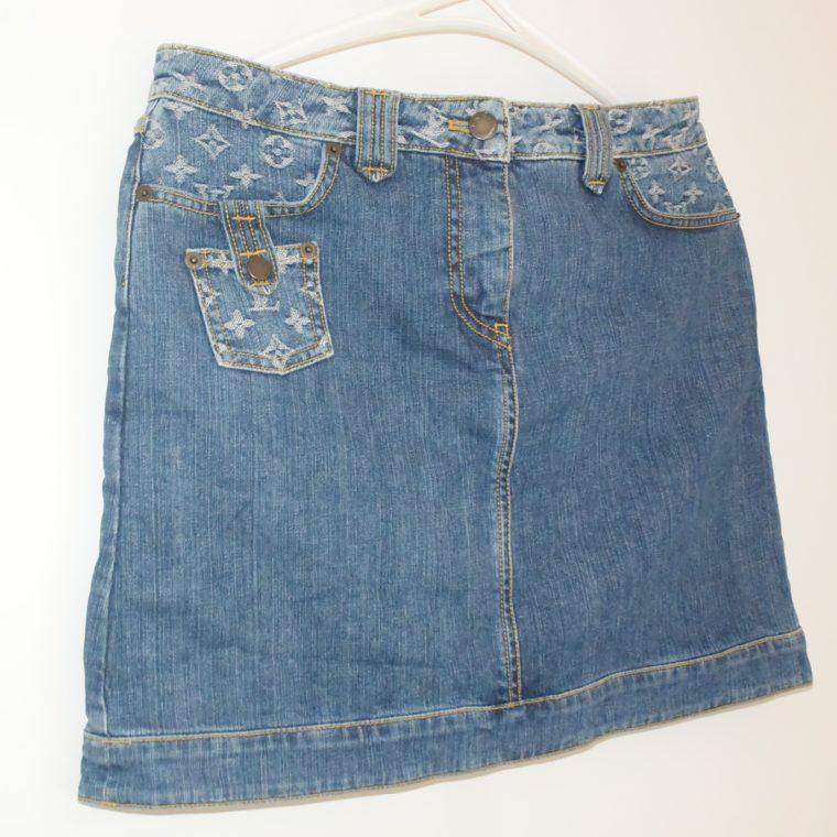 Louis Vuitton Jeans Rock blau-0