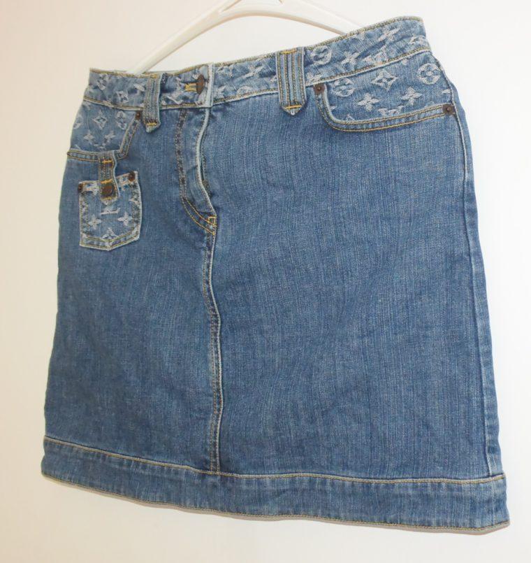 Louis Vuitton Jeans Rock blau-11767